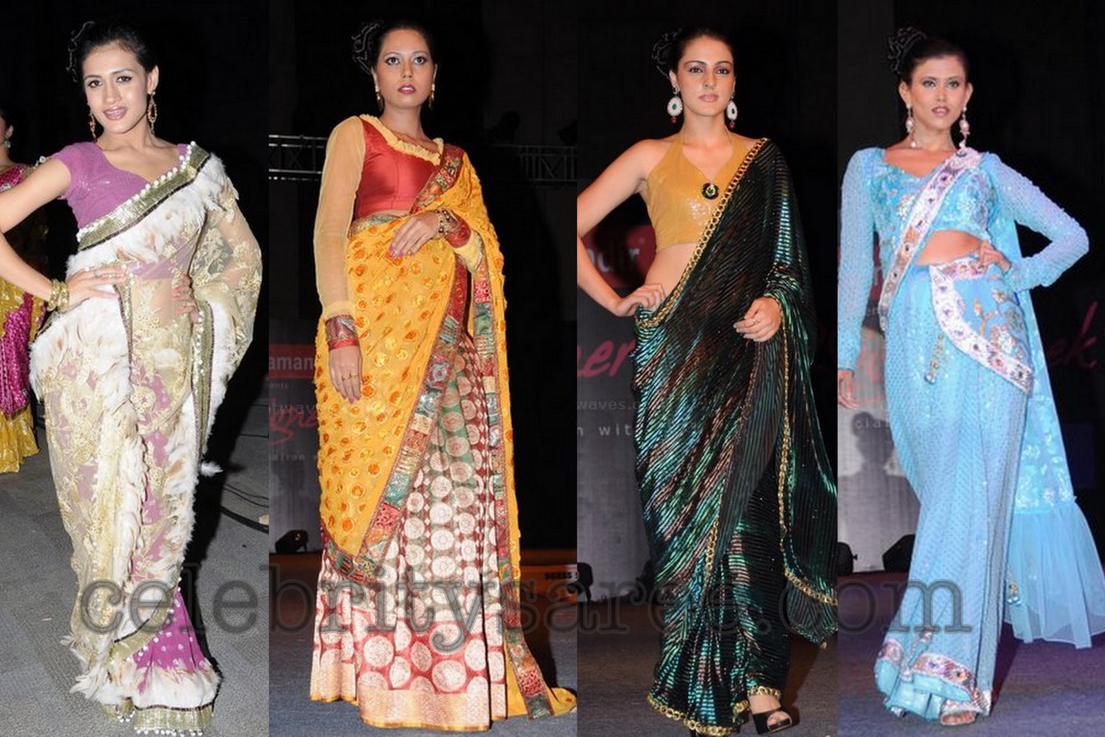 Half Saree Designers in Hyderabad http://www.celebritysaree.com/2012/05/designer-sarees-at-hyd-fashion-show.html