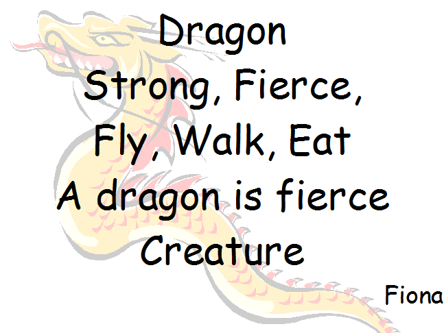 A7 2012: Dragon Cinquains