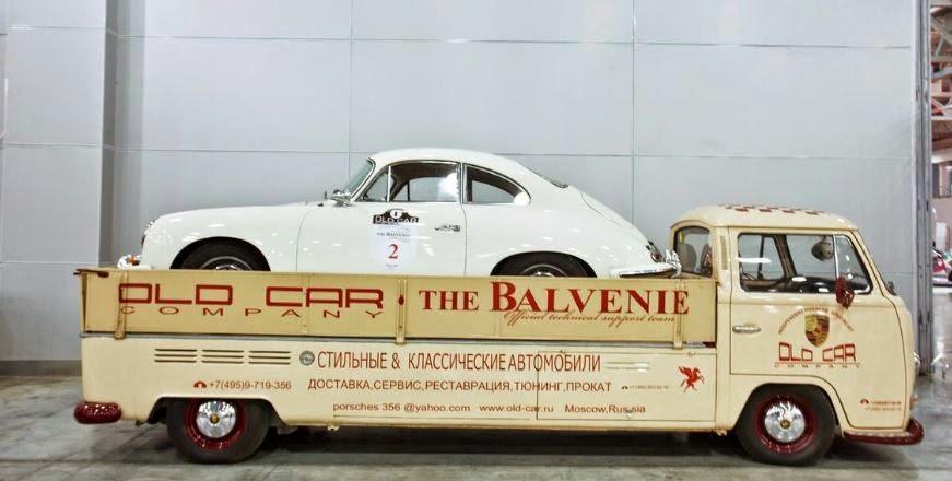 Just A Car Guy: terrific Porsche race car hauler
