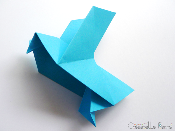 DIY colombe origami intérieur