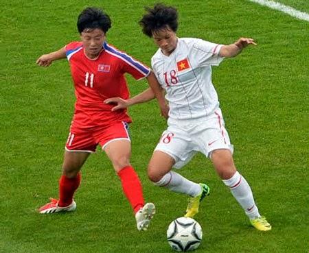 Tuyển nữ Việt Nam đã thảm bại 0-5 ở trận mở màn với CHDCND Triều Tiên