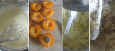 Zubereitung Aprikosen-Streusel-Kuchen