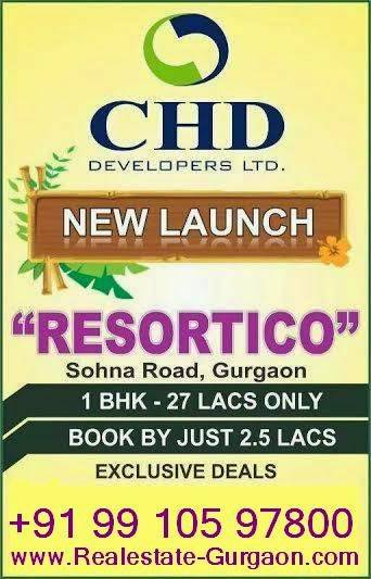 fresh booking in gurgaon, pre launch projects in gurgaon, upcoming projects in gurgaon, CHD RESORTICO, RESORTICO SOHNA CHD, NEW LAUNCH CHD SOHNA, RESORTICO NEW LAUNCH SECTOR 34 SOHNA