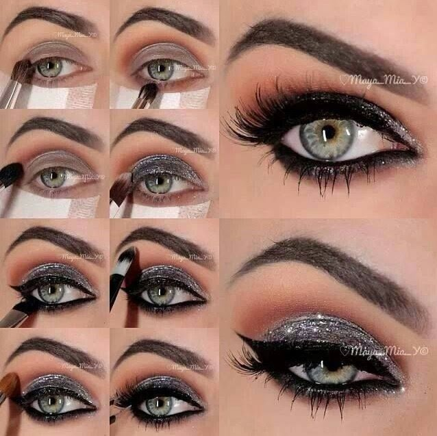 Silver Glitter Stunning Eyeshadow Tips Tutorial She9 Facebook
