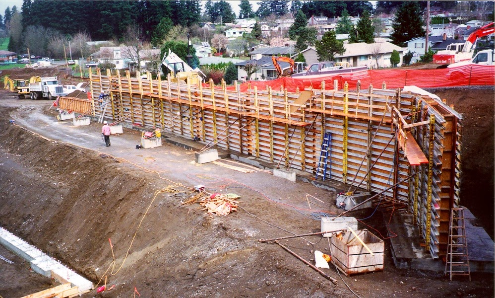 this is an engineered retaining wall design example wood