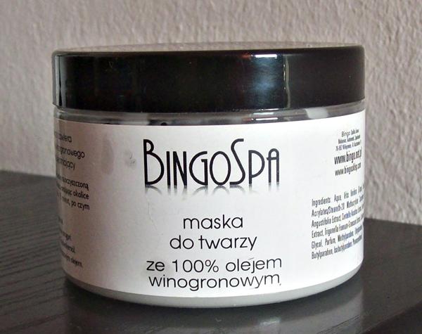 Maska do twarzy ze 100% olejem winogronowym, BingoSpa