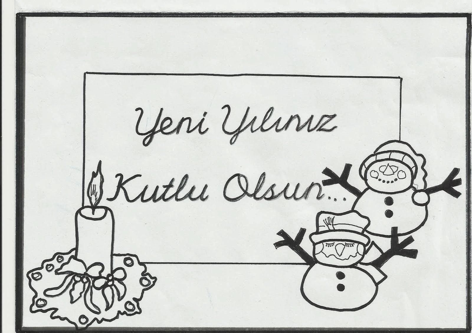 Yeni yıl etkinlikleri yeni yıl kartları kardan adamlar