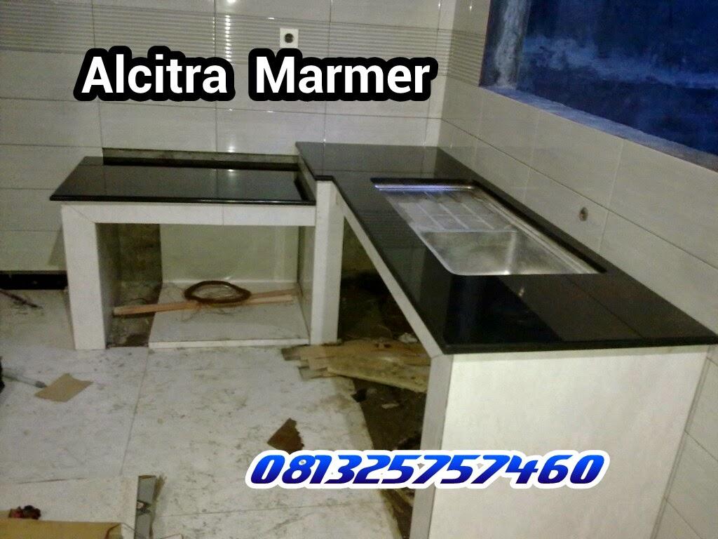 ALCITRA MARMER marmer granit meja dapur granit hitam