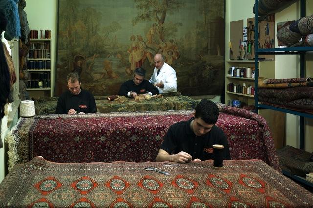 Aubusson alfombras y tapices exclusivo taller de restauracion y conservacion de alfombras y tapices - Restauracion de alfombras ...