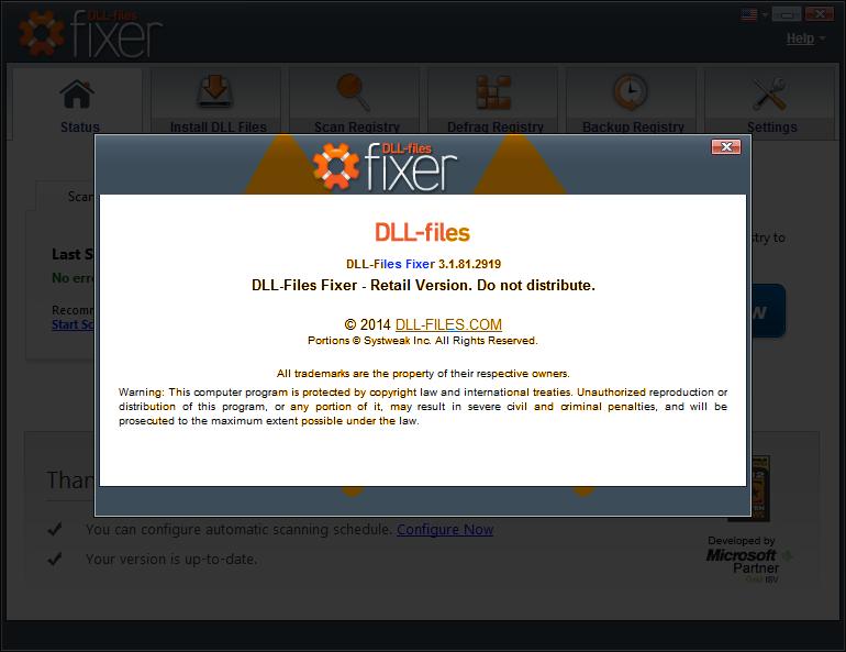 DLL-files Fixer 3.1.81.2919 Full Crack