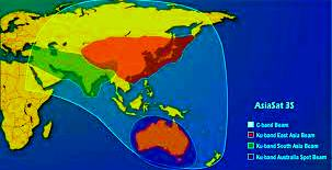 Asiasat 3s foot print satellite coverage map to watch satellite Tv channels