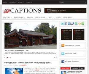 Captions WordPress Theme
