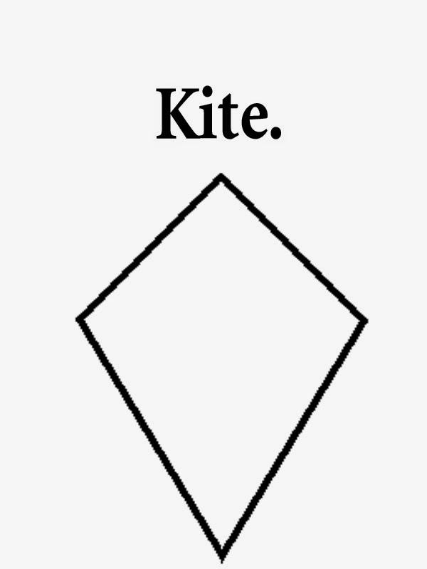 Free clipart kite printable geometry shapes straightforward drawings ...