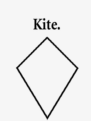 Free clipart kite printable geometry shapes straightforward drawings for schools coloring with words