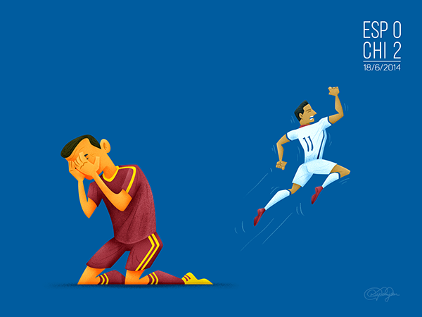 ilustraciones de los mejores momentos de Brasil 2014