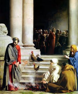 بطرس ينكر أستاذه المسيح