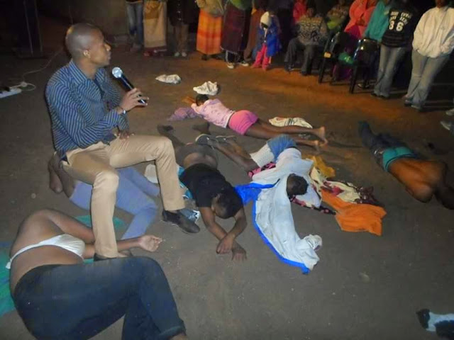 south african pastor strips church members