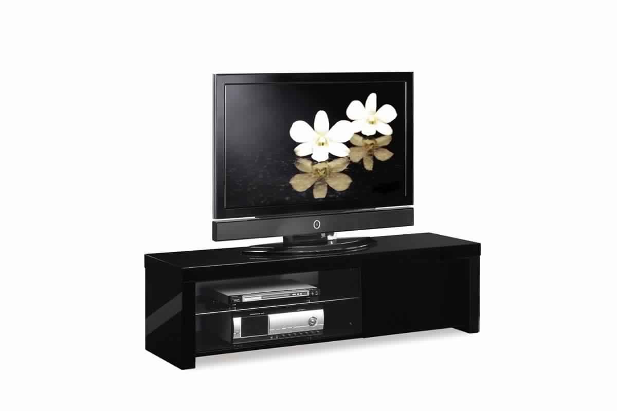 Meuble Tv Bois Laque Noir Int Rieur Meubles # Meuble Tv Laque Noir Pas Cher