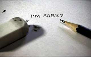  Saying &quot;Im sorry&quot; is just the beginning of our commitment to behave......