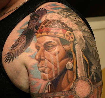 2011 Native American Tattoo ArtBest Inspirate Tattoos Design