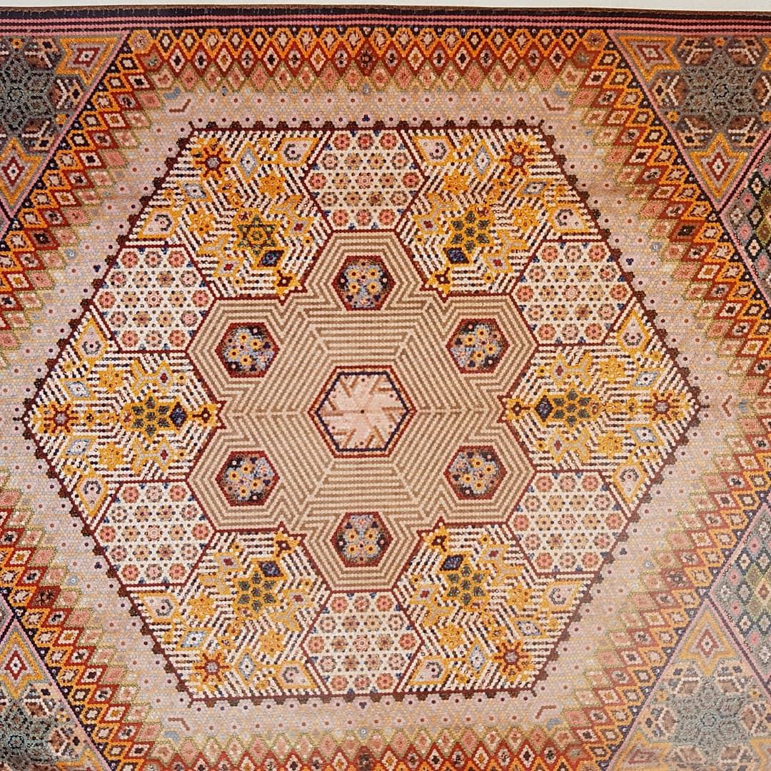 Hexagones Victorian Quilt 1845