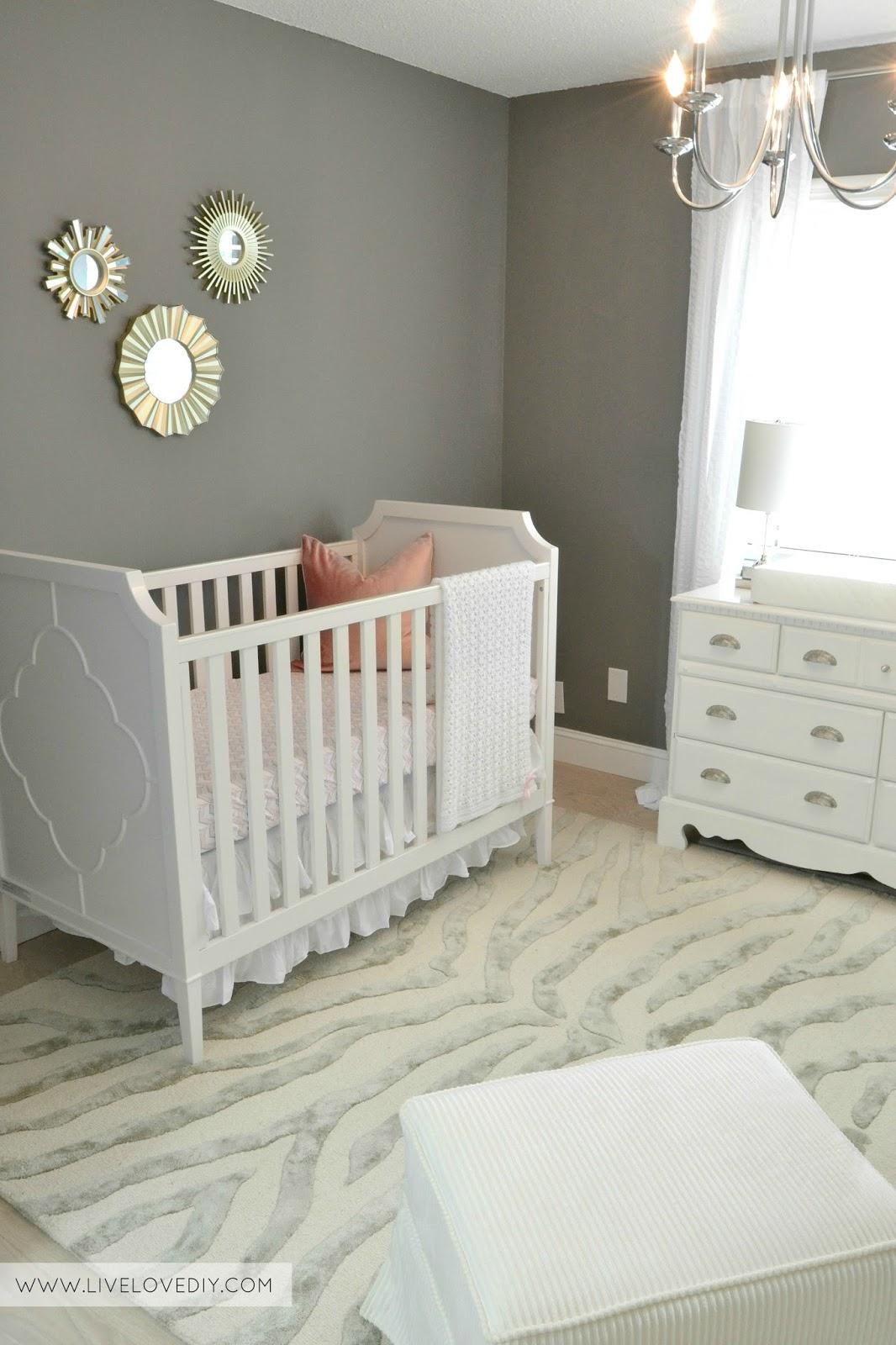 Baby Girl Room Ideas Gray livelovediy: the nursery reveal!!!