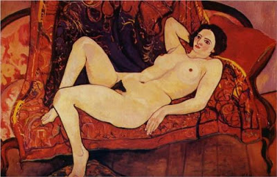 Suzanne Valadon - nude on the sofa