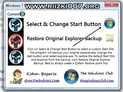 Pilih Select & Change Start Button Nomor yang pertama untuk mengganti