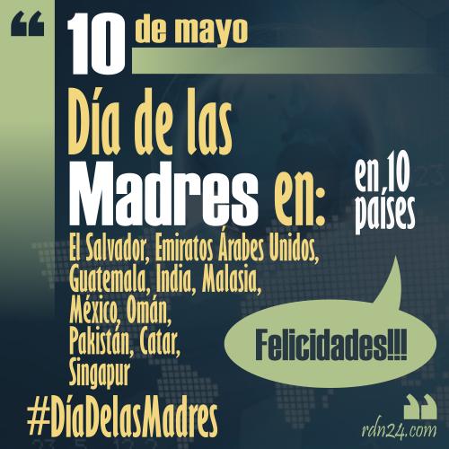 10 de Mayo - #FelizDíaDeLasMadres a las mamás de los 10 países que celebran el día ...