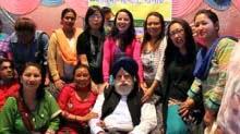 Darjeeling MP SS Ahluwalia with GJM Naari Morcha members in Kurseong
