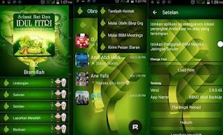 Download Gratis Punya BBM 2 ID Thema Ketupat Keren Banget