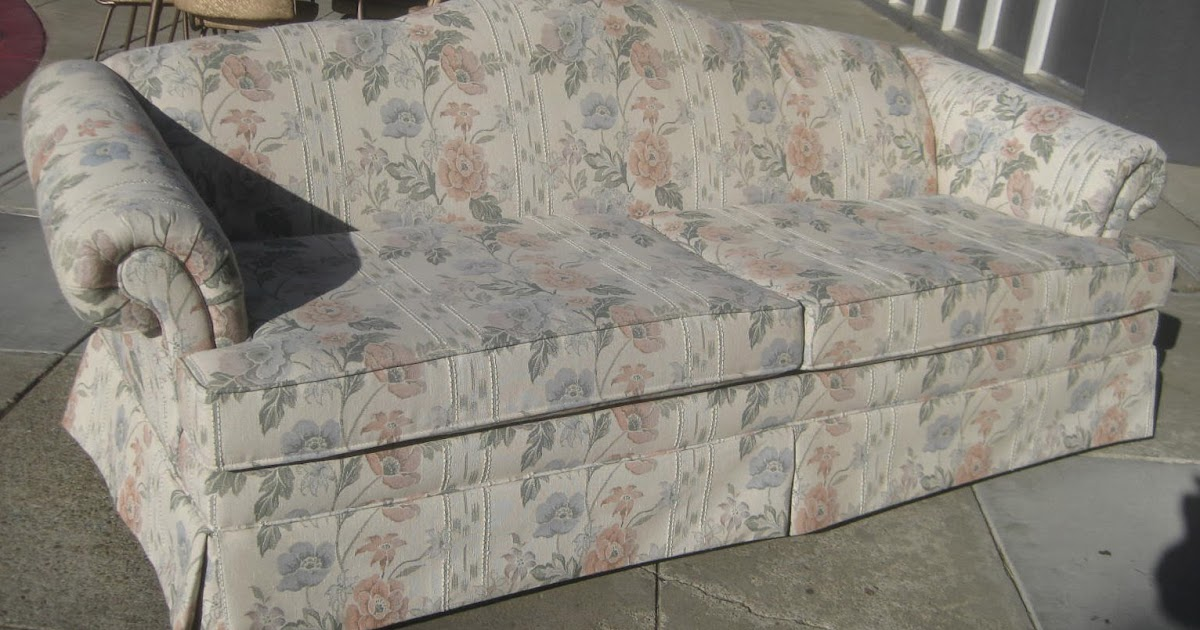 Uhuru furniture collectibles sold country floral sofa 60 for 80s floral couch