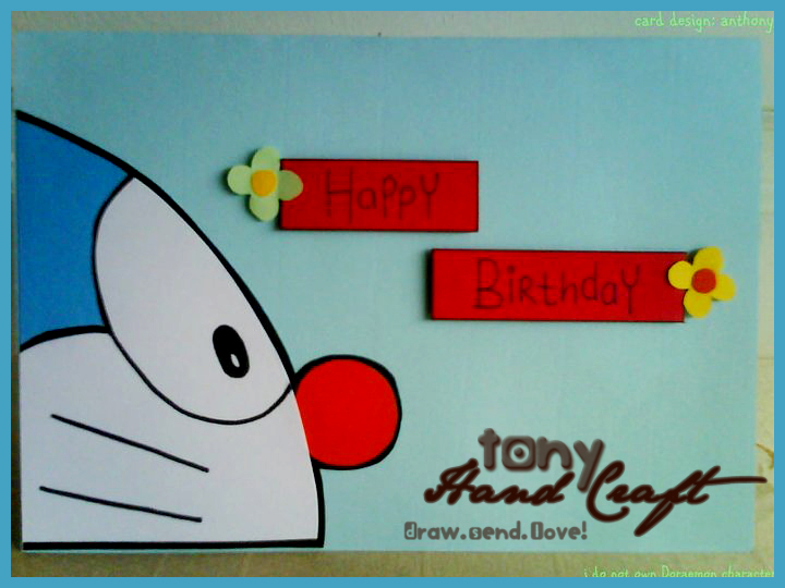 Tonyhandaft specially requested and made doraemon birthday specially requested and made doraemon birthday card in quilling stopboris Choice Image