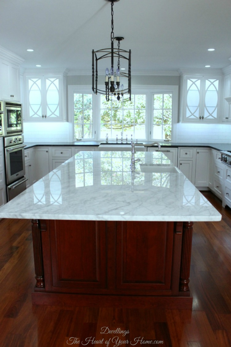 marble and soapstone kitchen