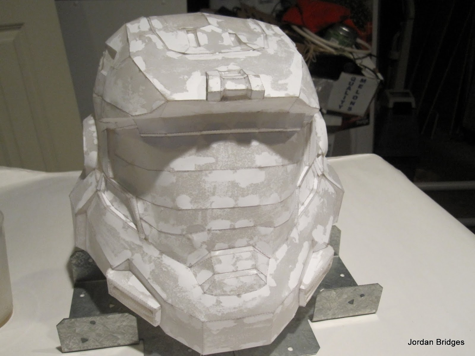 how to make a paper halo helmet