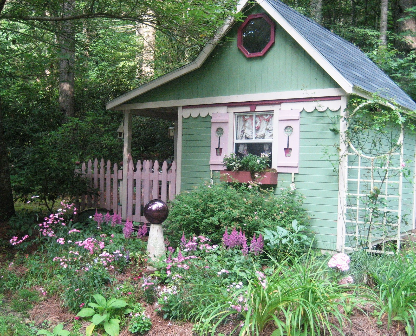 Whimsical cottage gardening sit with me in my garden for Backyard cottages