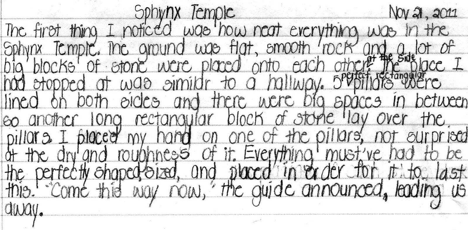 an example of sensory writing Keep the following lists of words to help you improve your writing using sensory  words can help you provide more details and examples in your writing add to.