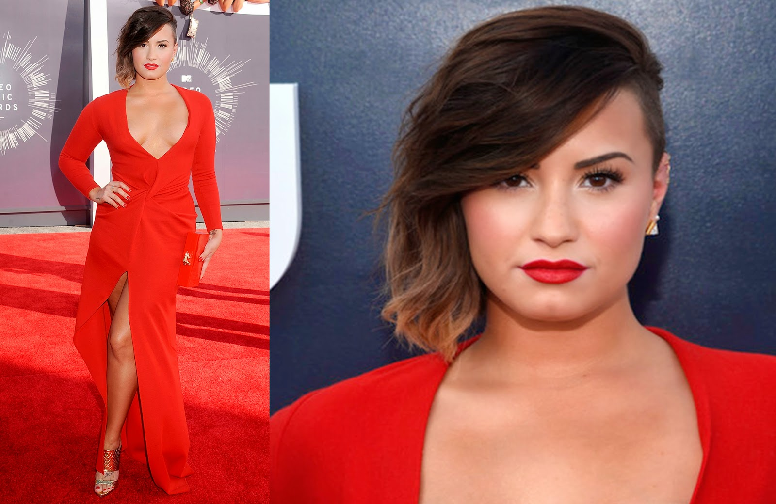 looks, maquiagens, bonitas, VMA, 2014, Demi Lovato