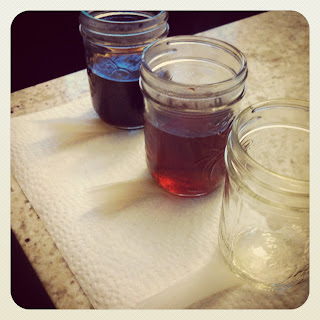 tea dyeing