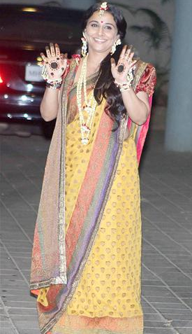 vidya balans mehendi ceremony photos pix pictures