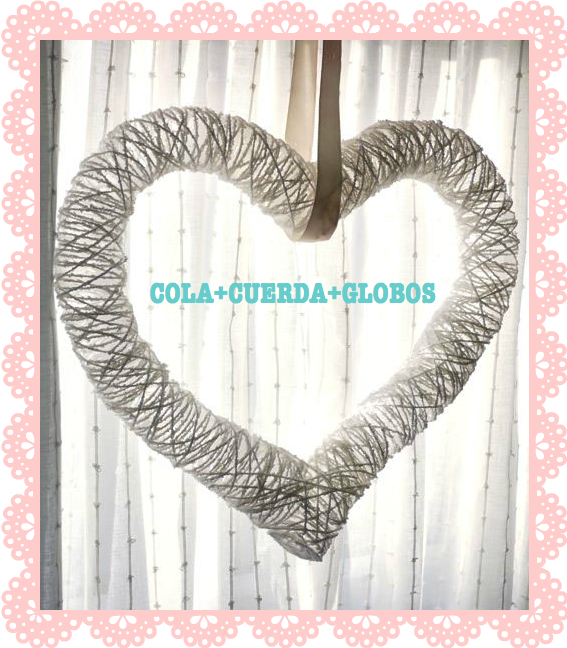 STRING HEART DIY /CORAZÓN DE CUERDA DIY