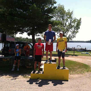 Men's Elite Podium at 2013 Evergreen Triathlon
