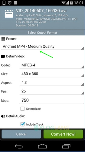 Cara merubah format video di Android