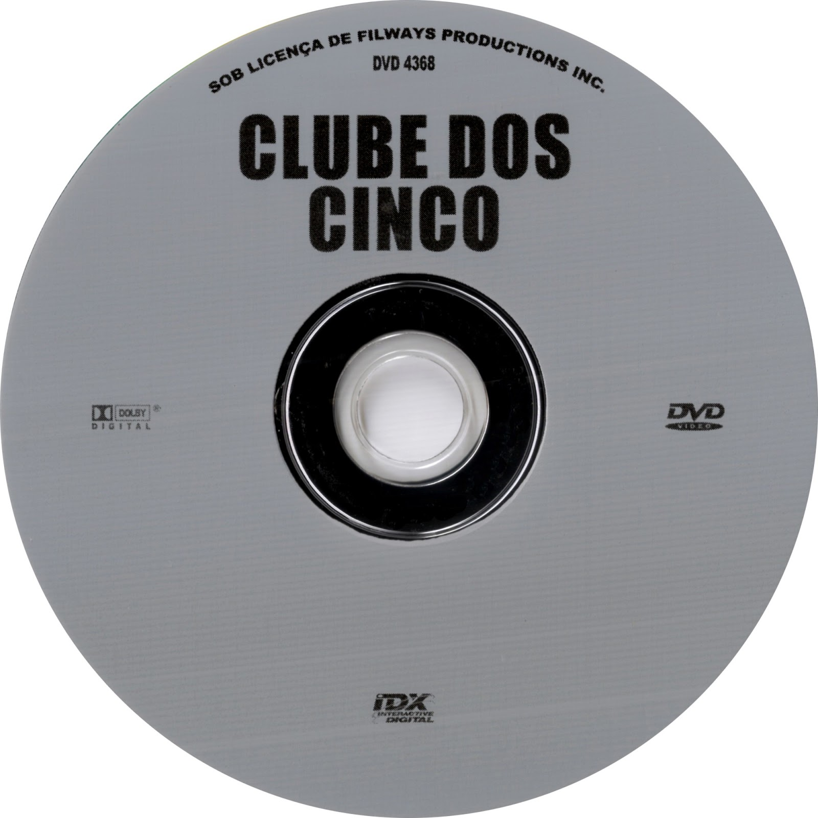 Label DVD Clube Dos Cinco