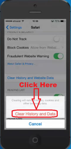 how to find search history on safari