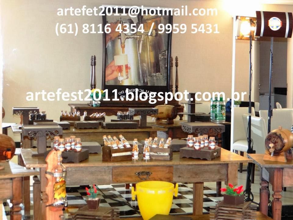 festa boteco decoracao rustica : festa boteco decoracao rustica:ARTEFEST – DECORAÇÃO PROVENÇAL: Festa de Boteco – Mesa rústica
