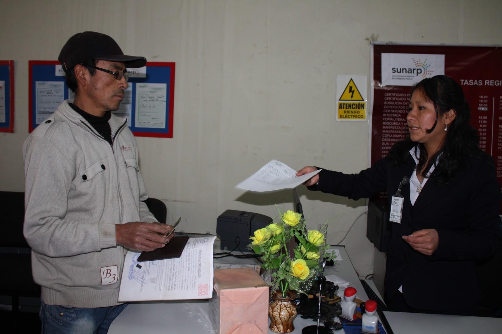Group 10 notic as huancayo sunarp ampl a servicios en for Servicios de oficina