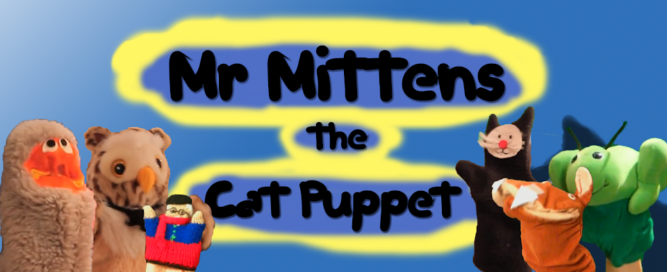 Mr Mittens the Cat Puppet