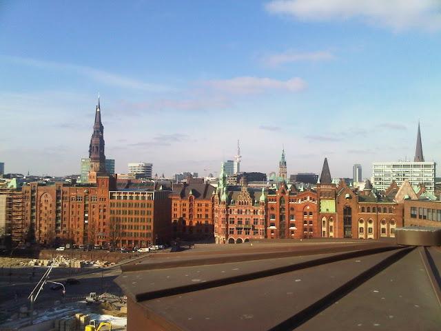 Blick vom Maritimen Museum aus - Blick in Richtung Innenstadt, Norden
