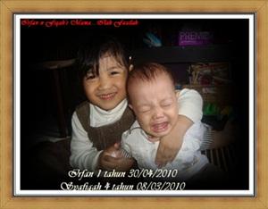 Irfan 1 Years & Syafiqah 4 Years